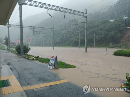 韓中部地區暴雨成災 傷亡事故漸增