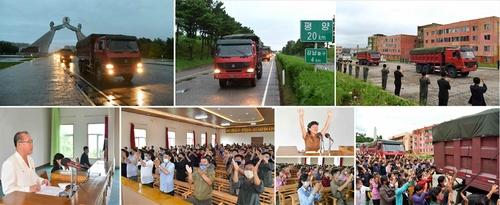 朝媒:金正恩備用糧食運抵洪水災區