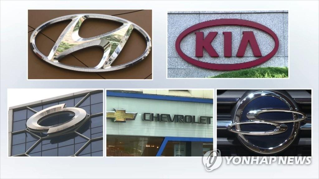 南韓五大整車廠商8月銷量同比減12.8%