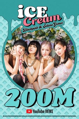 《Ice Cream》MV播放量突破2億次 YG娛樂供圖(圖片嚴禁轉載複製)