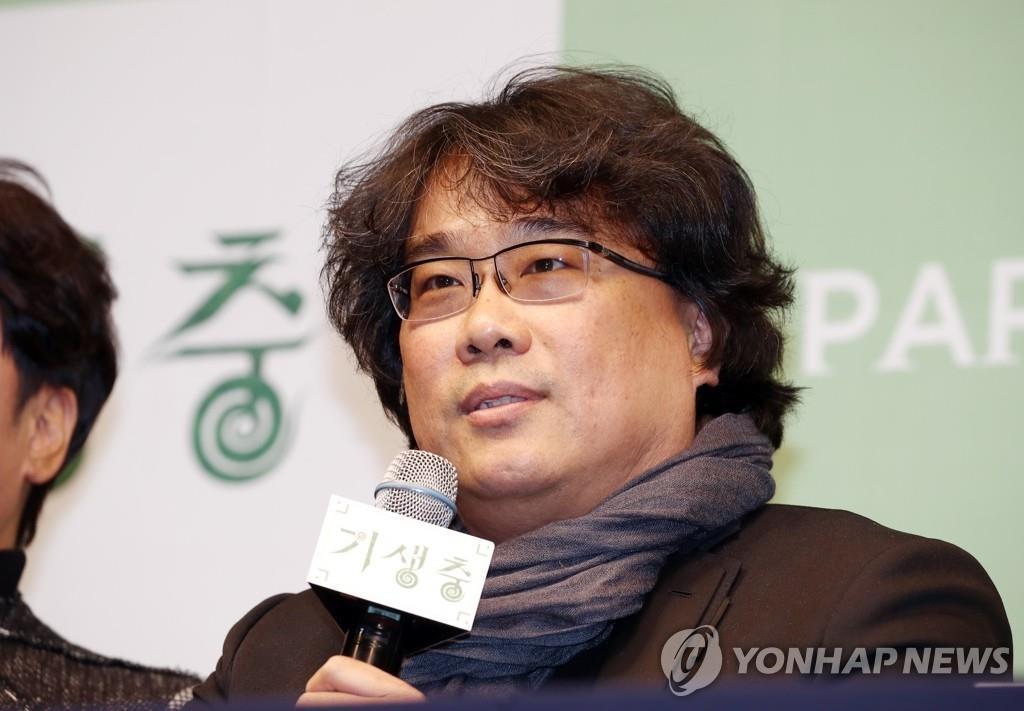 資料圖片:南韓電影導演奉俊昊 韓聯社