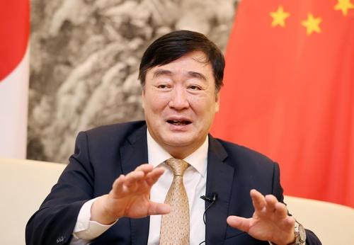 9月22日,在位於首爾明洞的中國駐南韓大使館,中國駐韓大使邢海明接受韓聯社專訪。 韓聯社