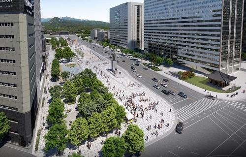 首爾光化門廣場擴建打造生態文明城