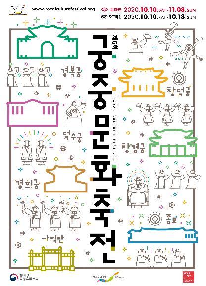 資料圖片:2020年第6屆宮廷文化節海報 韓聯社/文化財廳供圖(圖片嚴禁轉載複製)