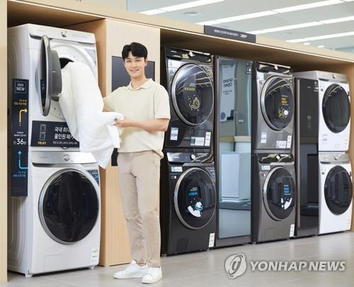 資料圖片:三星GRANDE AI洗衣機 韓聯社
