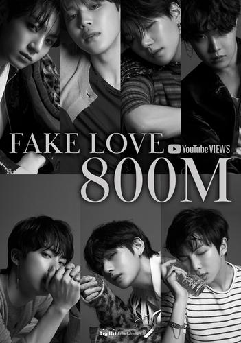 防彈少年團《FAKE LOVE》MV優兔播放量破8億