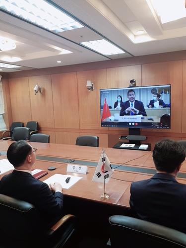韓中外交高官舉行視頻會議共商合力抗疫