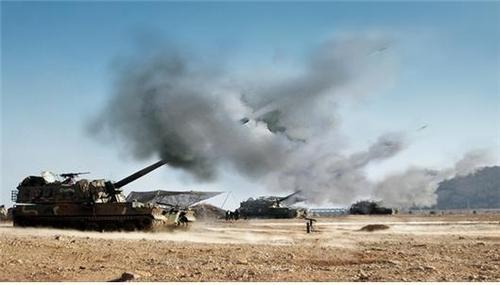 韓軍主力武器K9自行火炮部署完畢