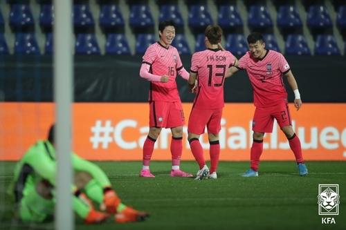 南韓男足與墨西哥舉辦熱身賽不敵對手
