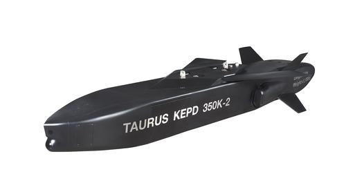 """新一代遠端空地導彈""""金牛座350K-2""""模型 金牛座系統公司供圖(圖片嚴禁轉載複製)"""