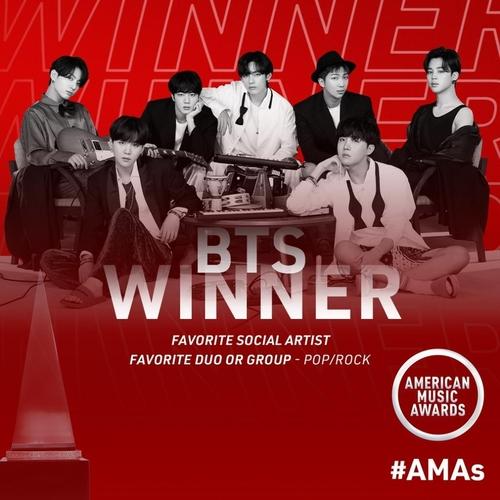 防彈少年團榮獲全美音樂獎兩個獎項