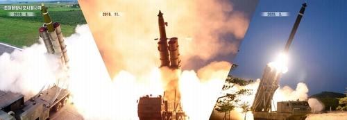 11月24日,朝鮮外國文出版社發行寫真集《為了強化國防力量》。 韓聯社/朝外文社畫冊截圖(圖片僅限南韓國內使用,嚴禁轉載複製)