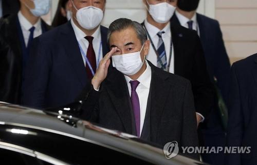 中國外長王毅抵韓訪問