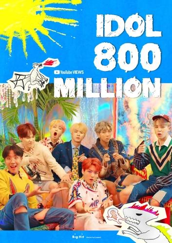 防彈少年團《IDOL》MV播放量破8億