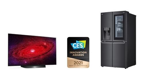 資料圖片:LG電子獲CES創新獎。 LG電子供圖(圖片嚴禁轉載複製)