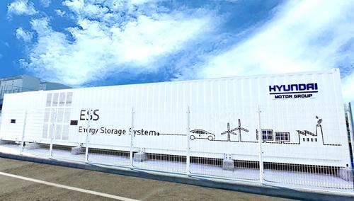 現代汽車推進利用廢動力電池的儲能系統項目驗證