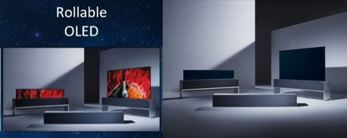 左為為創維可捲曲OLED電視,右為LG Signature OLED TV R。 創維CES線上展館截圖/LG電子供圖(圖片嚴禁轉載複製)