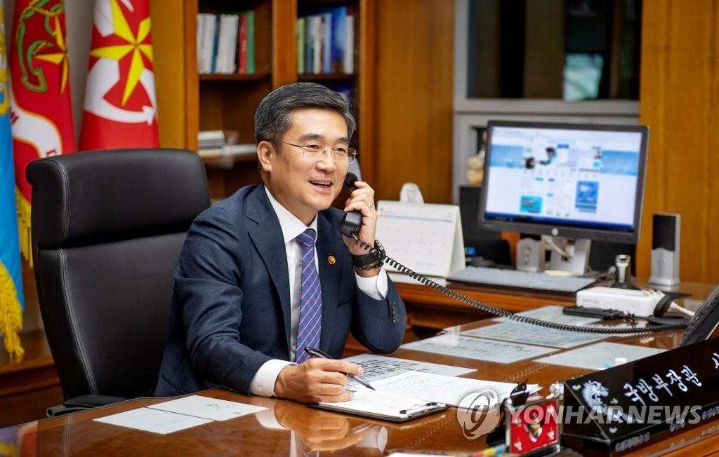 南韓防長徐旭與美國新任防長奧斯汀首通電話