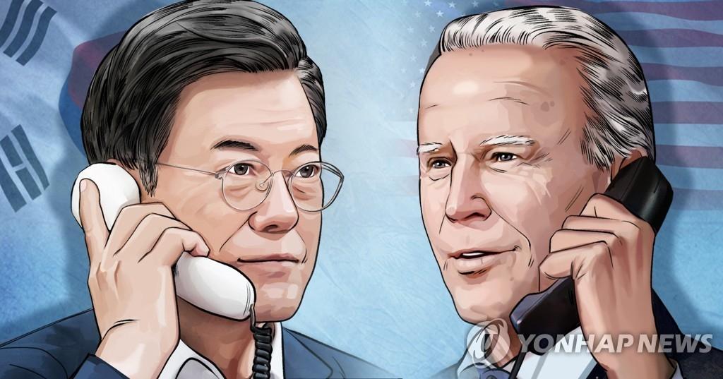 簡訊:韓美領導人商定合作推動韓半島無核化