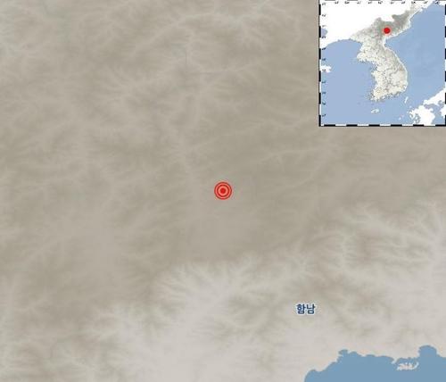朝鮮鹹鏡南道長津郡發生兩次天然地震