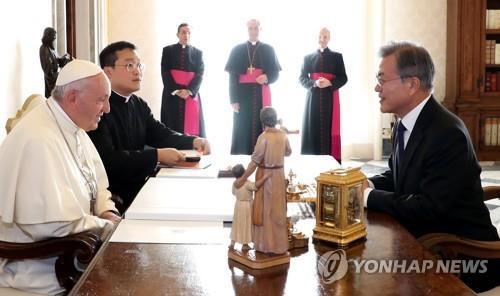 教皇方濟各對韓半島局勢表示關注