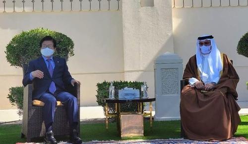 南韓國會議長樸炳錫拜會巴林王儲薩勒曼