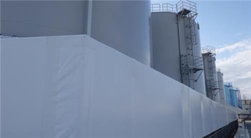 資料圖片:日本福島核電站水罐 韓聯社