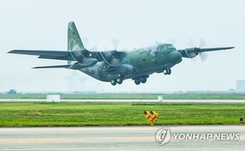 資料圖片:軍用C-130運輸機 韓聯社