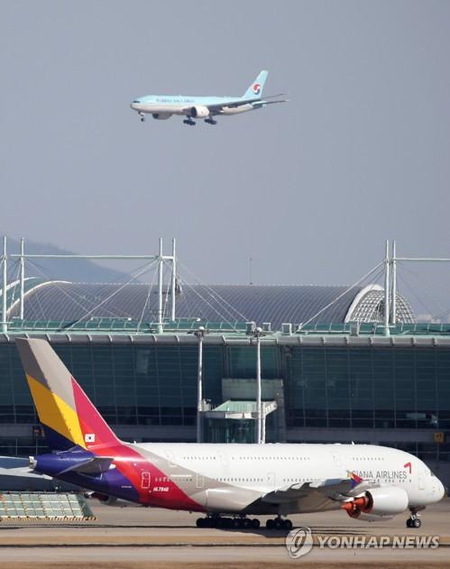 南韓有17架波音777在航或停飛