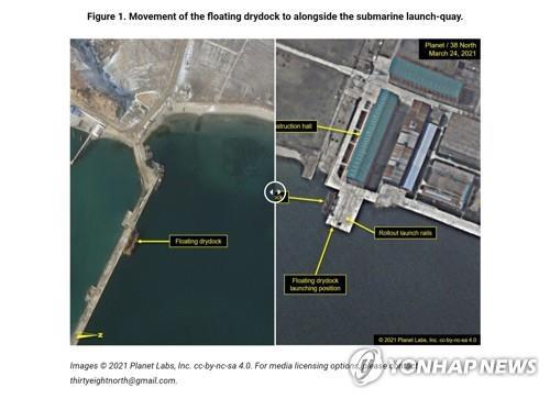 消息:朝鮮彈道導彈潛艇或準備下水