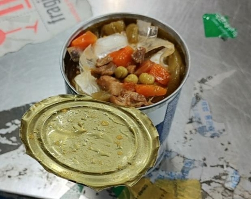 資料圖片:藏匿于食品罐頭中的毒品 仁川本部海關供圖(圖片嚴禁轉載複製)