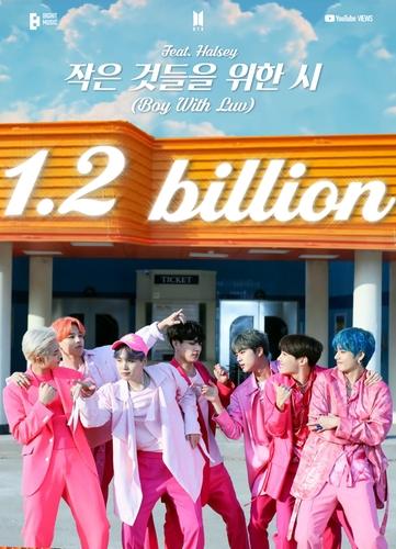 防彈《Boy With Luv》MV播放量破12億