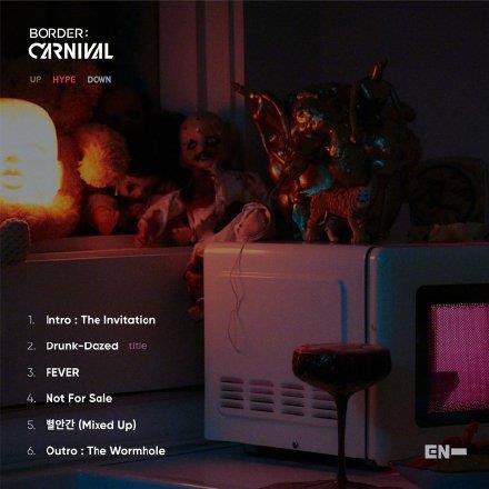 《BORDER : CARNIVAL》歌單 經紀公司BELIFT LAB供圖(圖片嚴禁轉載複製)