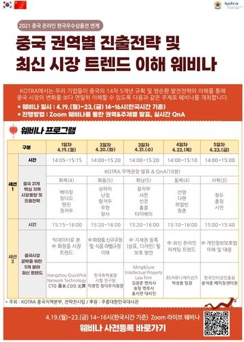 南韓產品在華推介會19日線上開幕