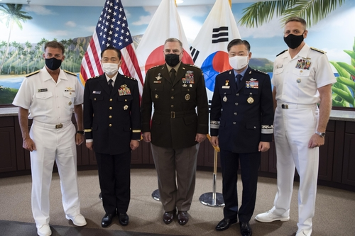 韓美日參謀長在夏威夷舉行會晤