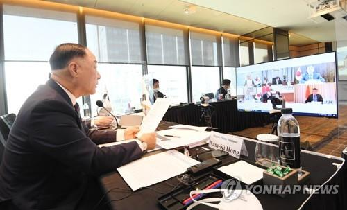 第21屆韓中日財長和央行行長會議線上舉行