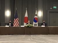 韓美日三國外長在倫敦舉行會談