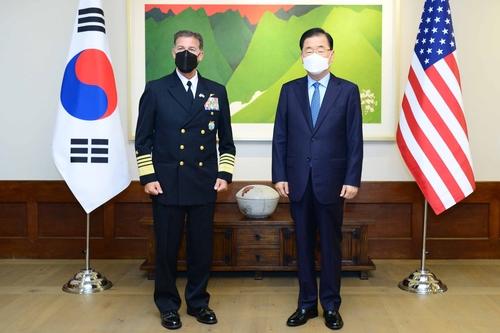 韓外長鄭義溶會見美國新任印太司令阿奎利諾