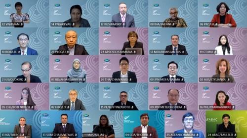 南韓代表出席2021年APEC第二次高官會