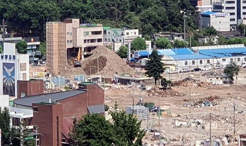 韓光州拆遷樓倒塌或因違規拆除