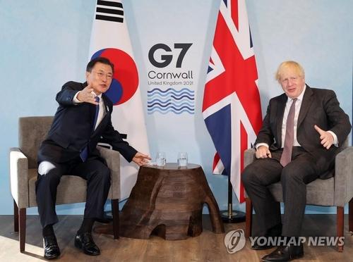 詳訊:韓英領導人舉行會談