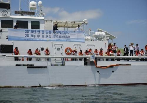 韓中明將同步舉行漁業資源增殖放流活動