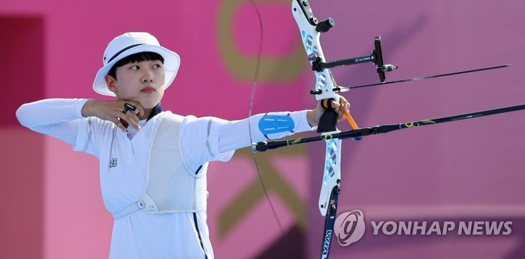 韓射箭選手安山:爭取在個人和團體賽上奪金