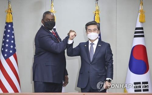 韓美防長通電話或討論聯演