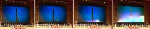 """朝鮮公開疑似用導彈發射車發射""""火星-15""""號陸基洲際彈道導彈的視頻。 韓聯社/朝鮮中央電視臺(圖片僅限南韓國內使用,嚴禁轉載複製)"""