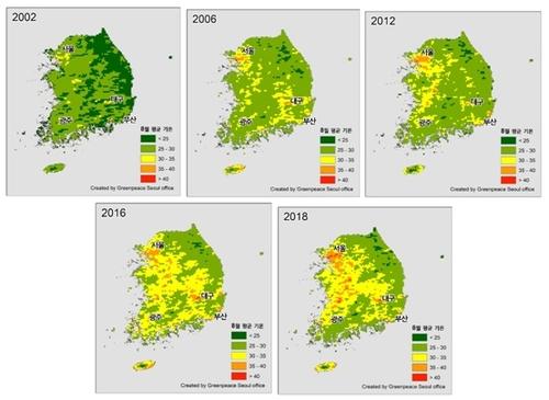 報告:韓盛夏30℃以上高溫地區面積九年來翻番