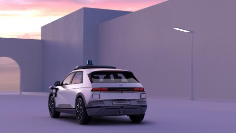 艾尼氪5車型機器人計程車 現代汽車供圖(圖片嚴禁轉載複製)