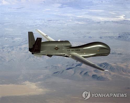 美軍無人偵察機飛臨韓半島上空