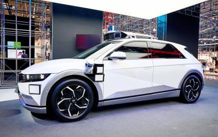 現代汽車艾尼氪5的機器人計程車 現代汽車供圖(圖片嚴禁轉載複製)