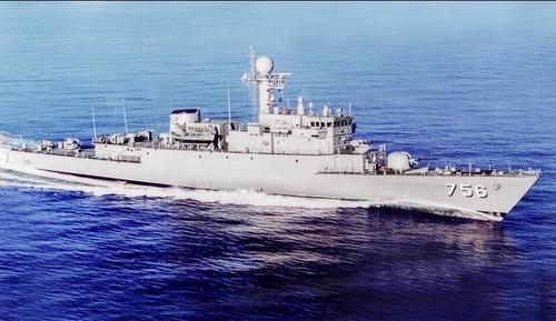 南韓海軍第六艘新型護衛艦浦項艦下水